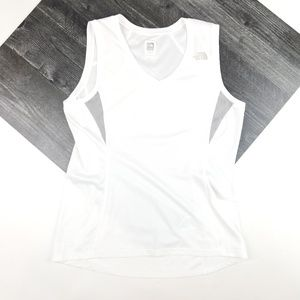 Womens North Face White Athletic Tank Top Size XS
